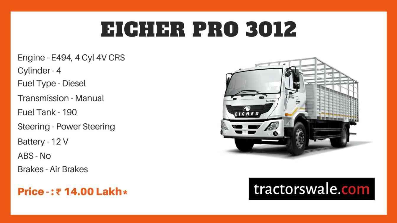 Eicher Pro 3012 Price