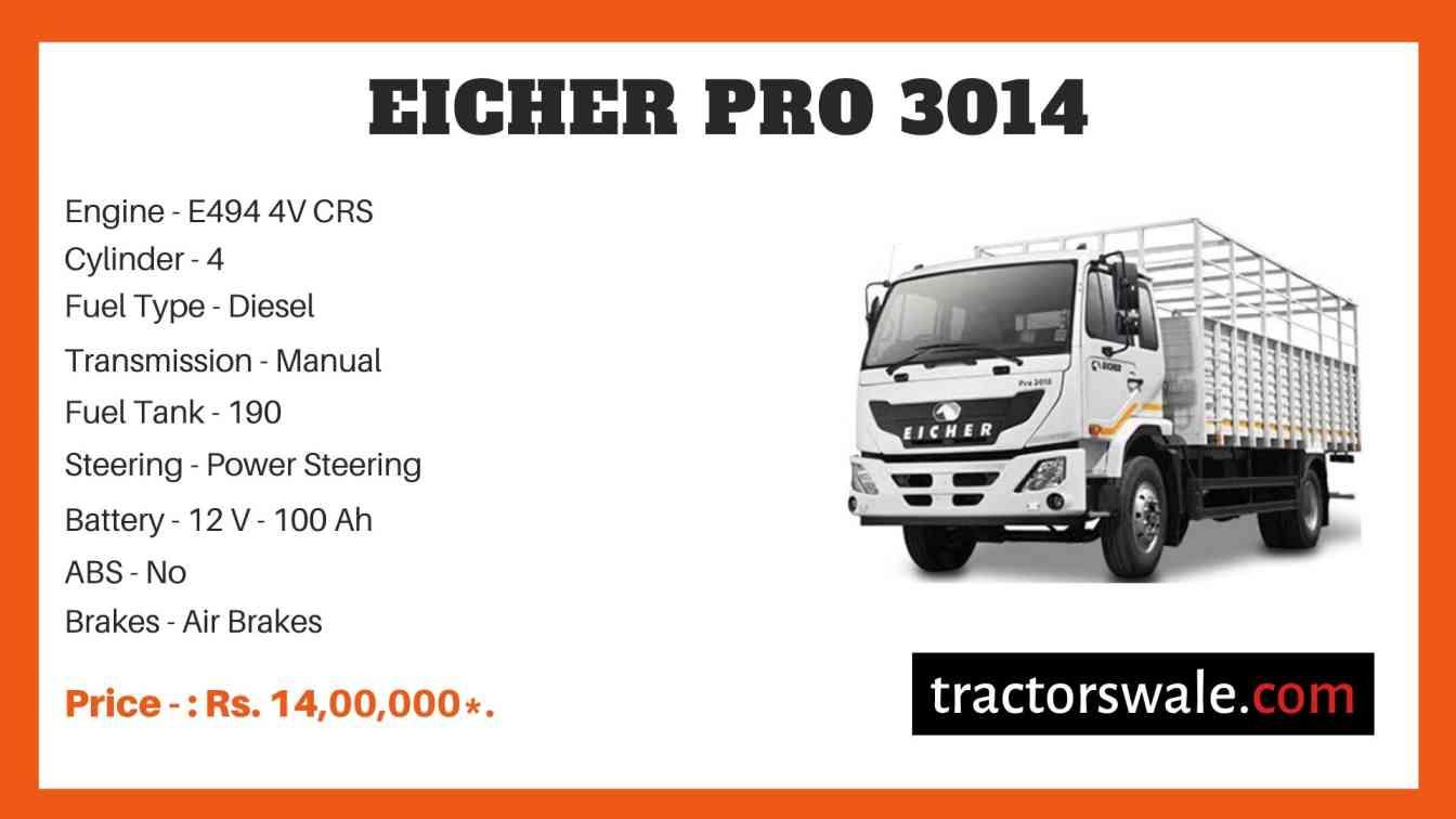 Eicher Pro 3014 Price