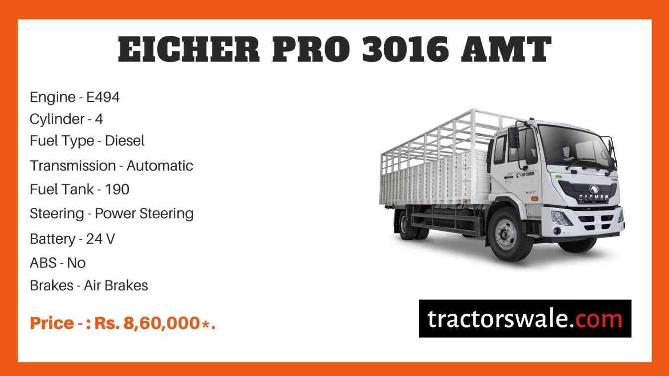 Eicher Pro 3016 AMT Price