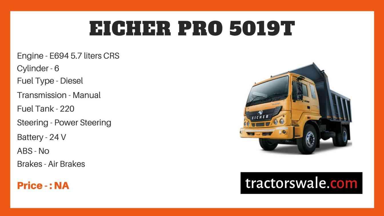 Eicher Pro 5019T Price