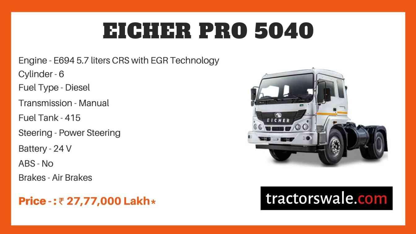 Eicher Pro 5040 Price
