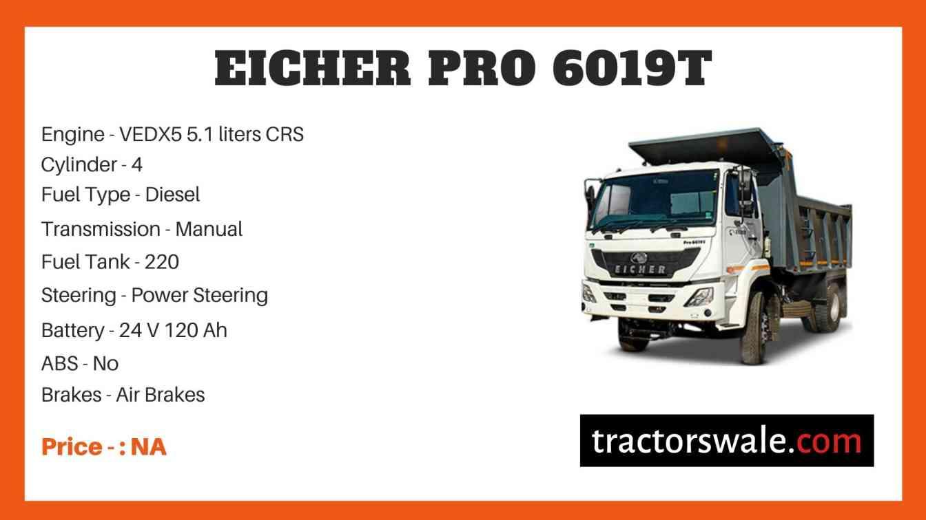 Eicher Pro 6019T Price