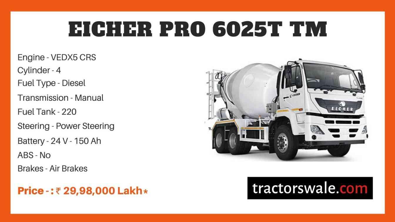 Eicher Pro 6025T TM Price