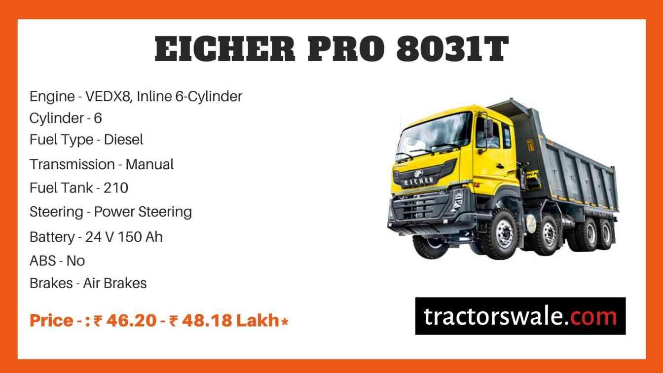 Eicher Pro 8031T Price