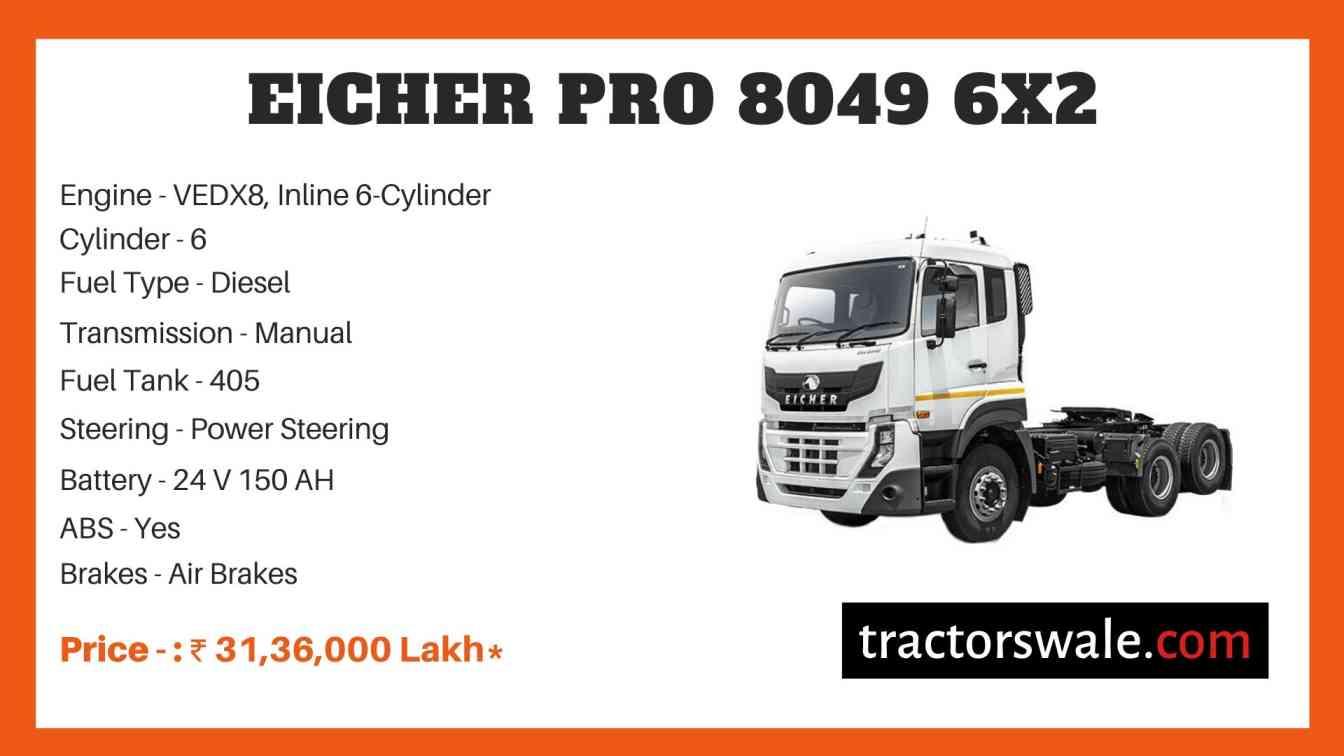 Eicher Pro 8049 6x2 Price