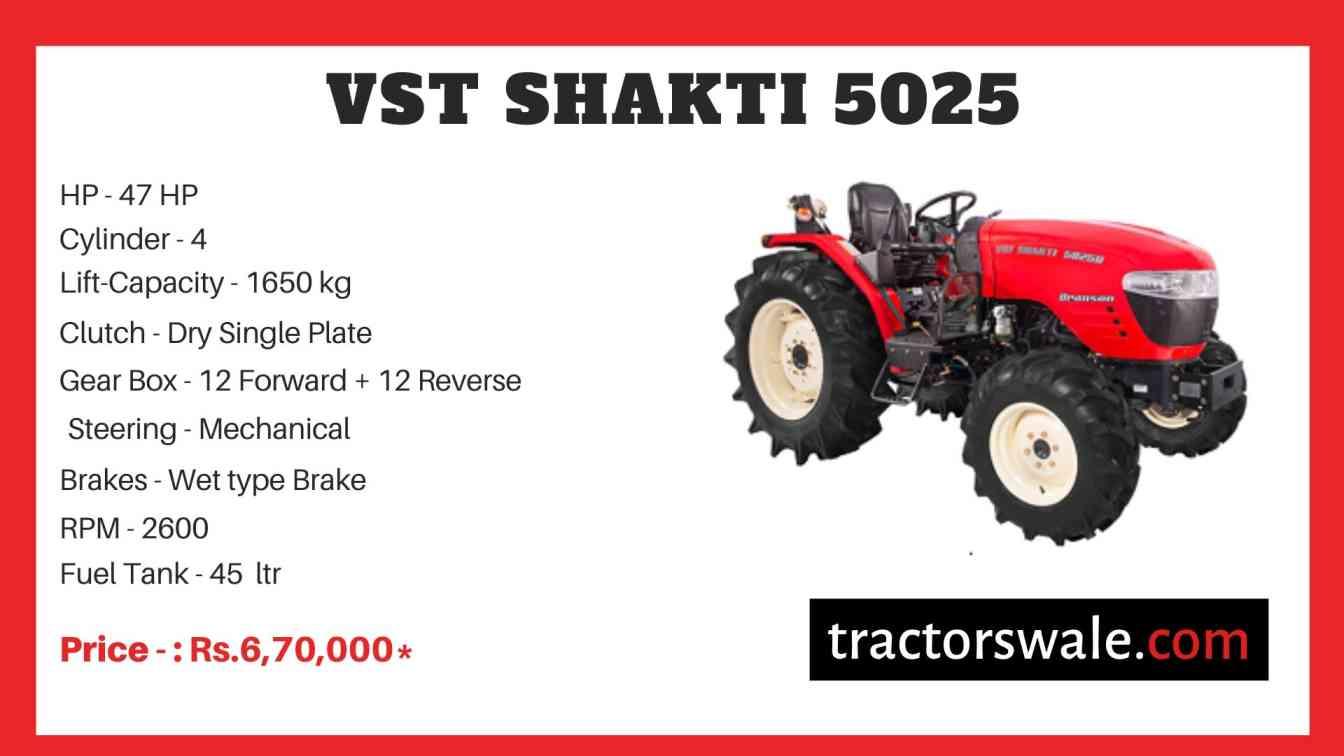 VST Shakti 5025 Tractor Price