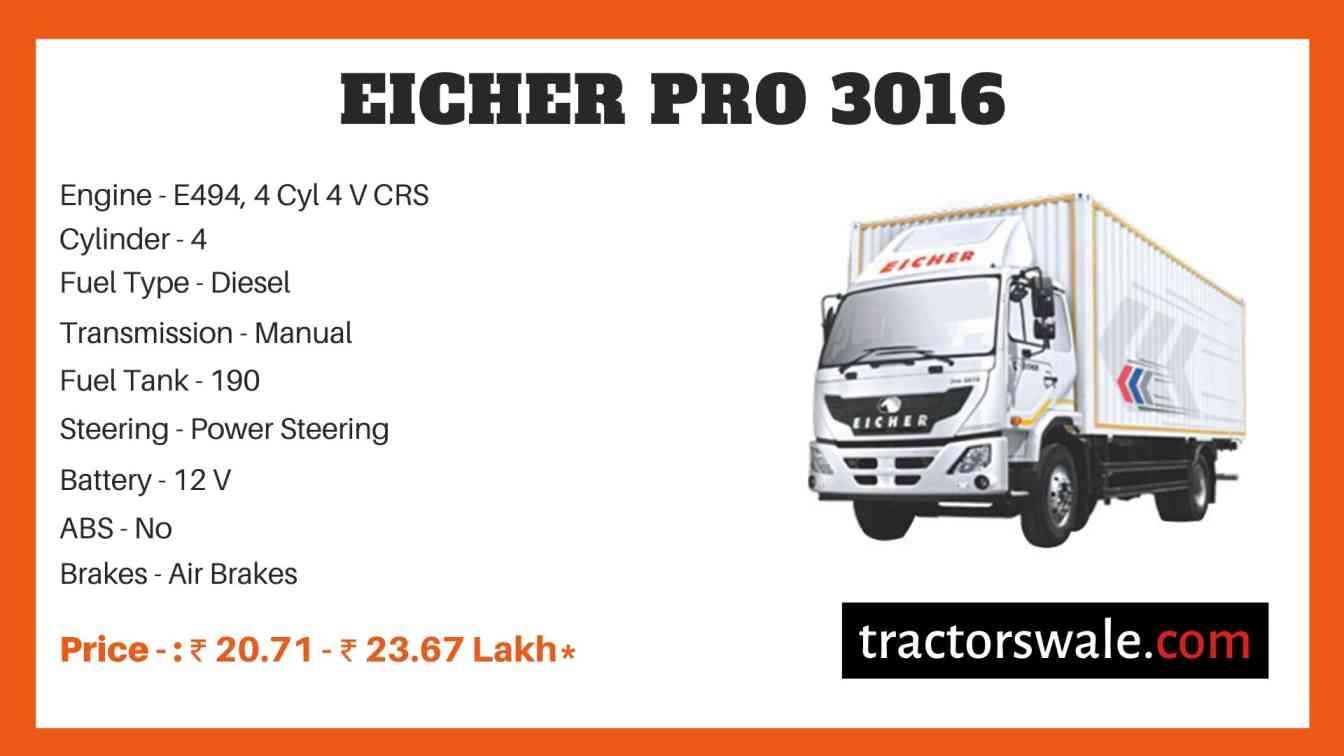 eicher 3016 price