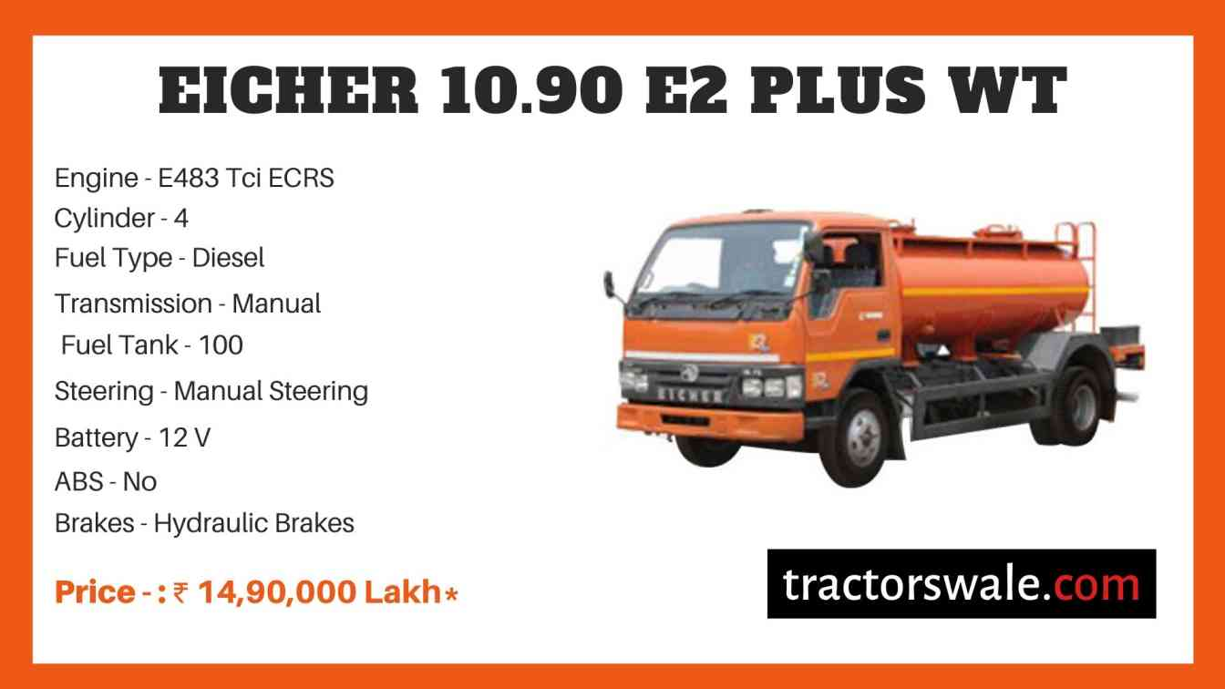 Eicher 10.90 E2 Price