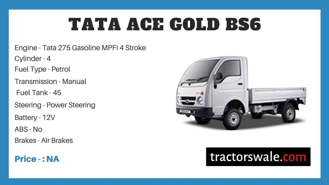 Tata ACE Gold BS6 Price