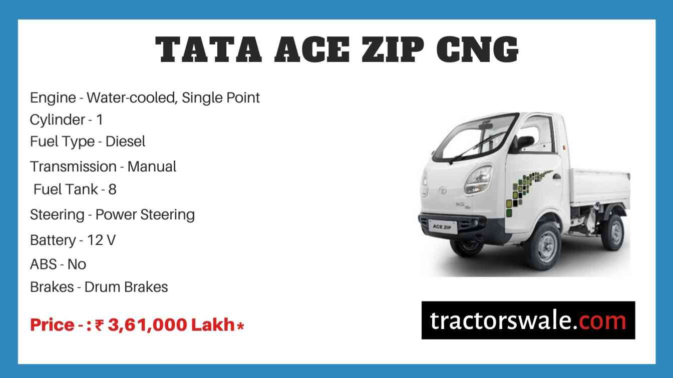 Tata ACE ZIP CNG Price