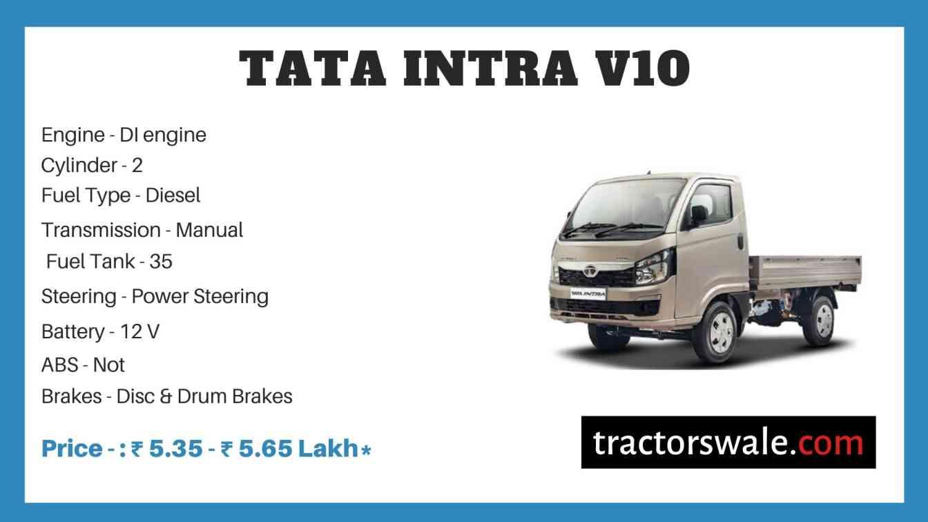Tata Intra V10 Price