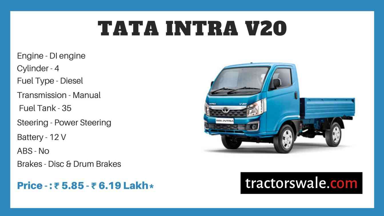 Tata Intra V20 price