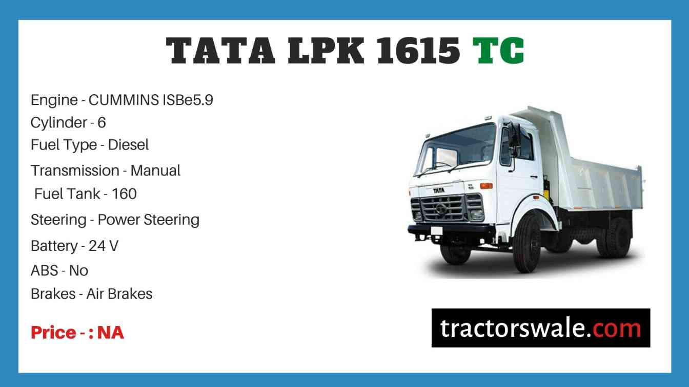 Tata LPK 1615 TC Price