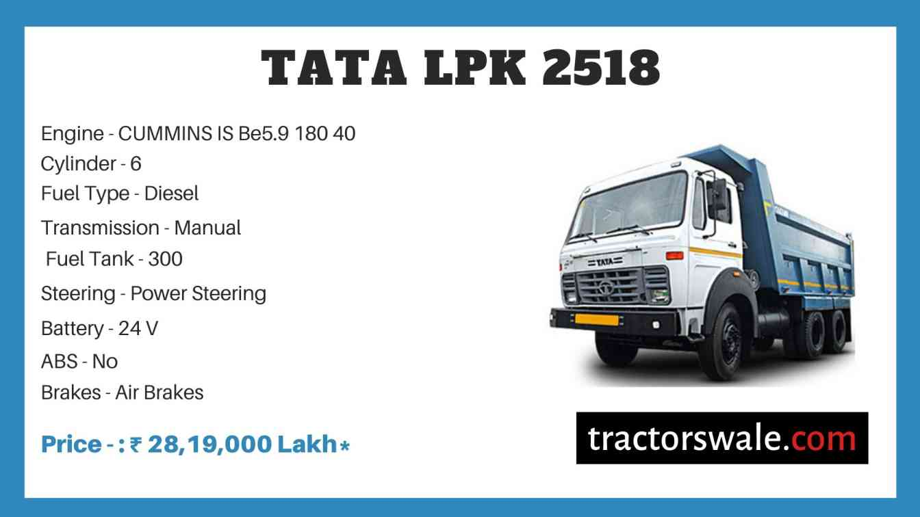 Tata LPK 2518 price