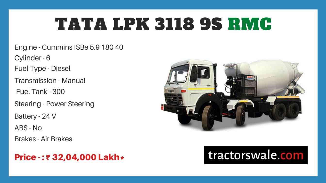 Tata LPK 3118 9S RMC Price