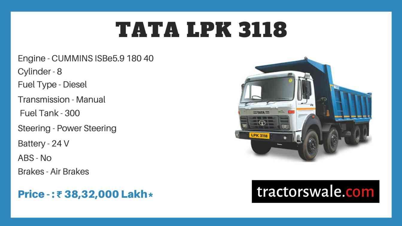 Tata LPK 3118 Price