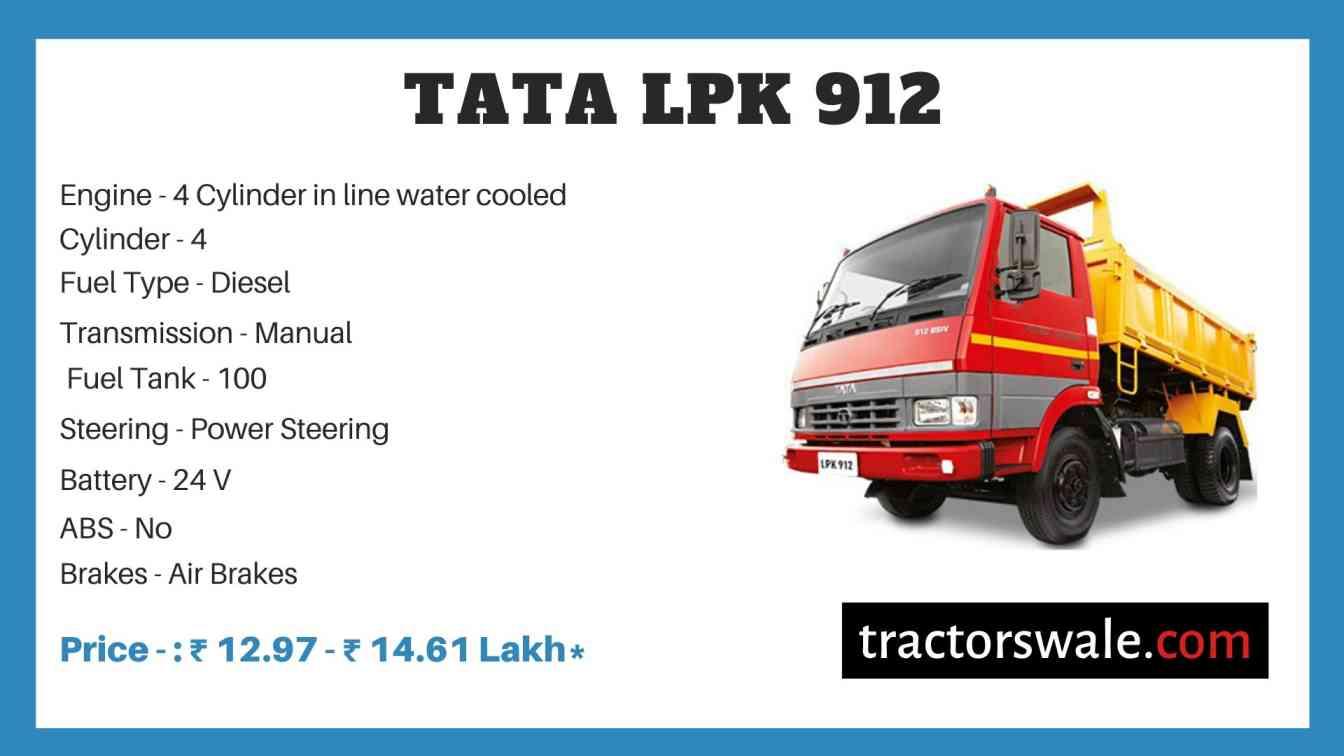 Tata LPK 912 Price
