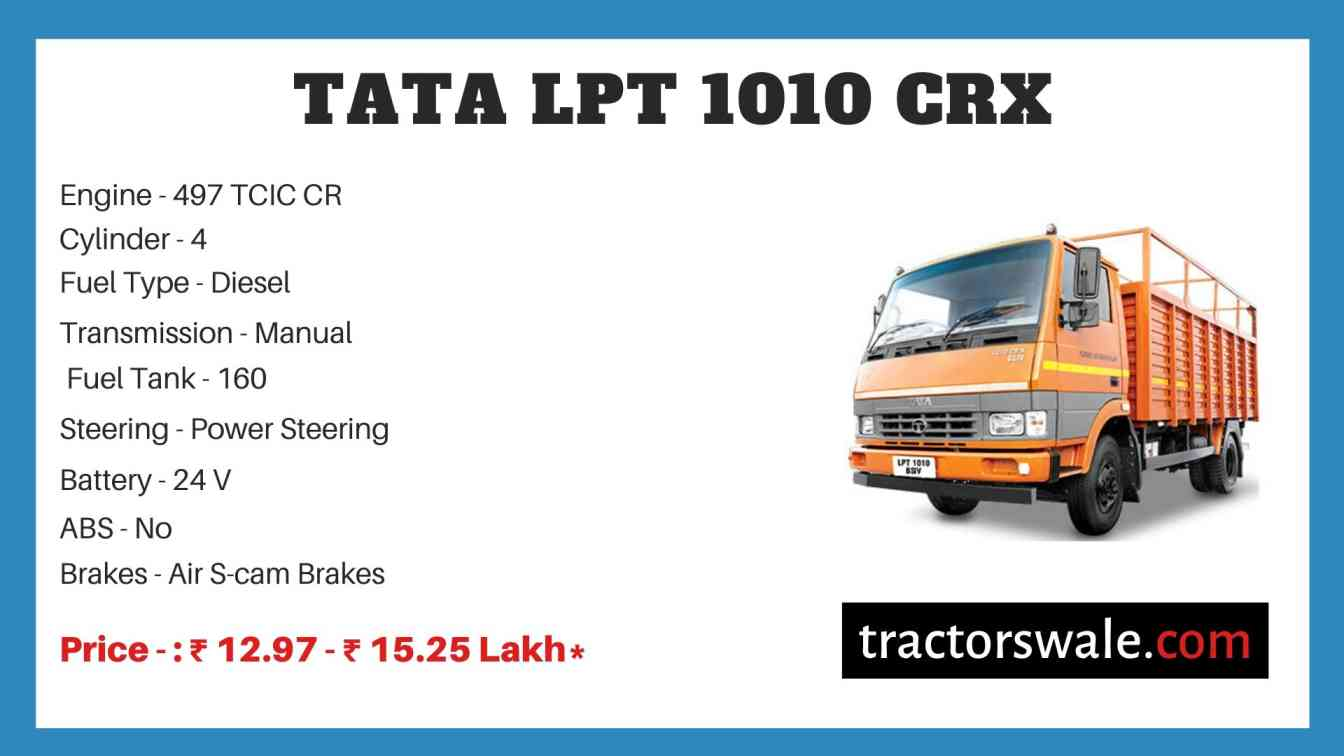 Tata LPT 1010 CRX Price
