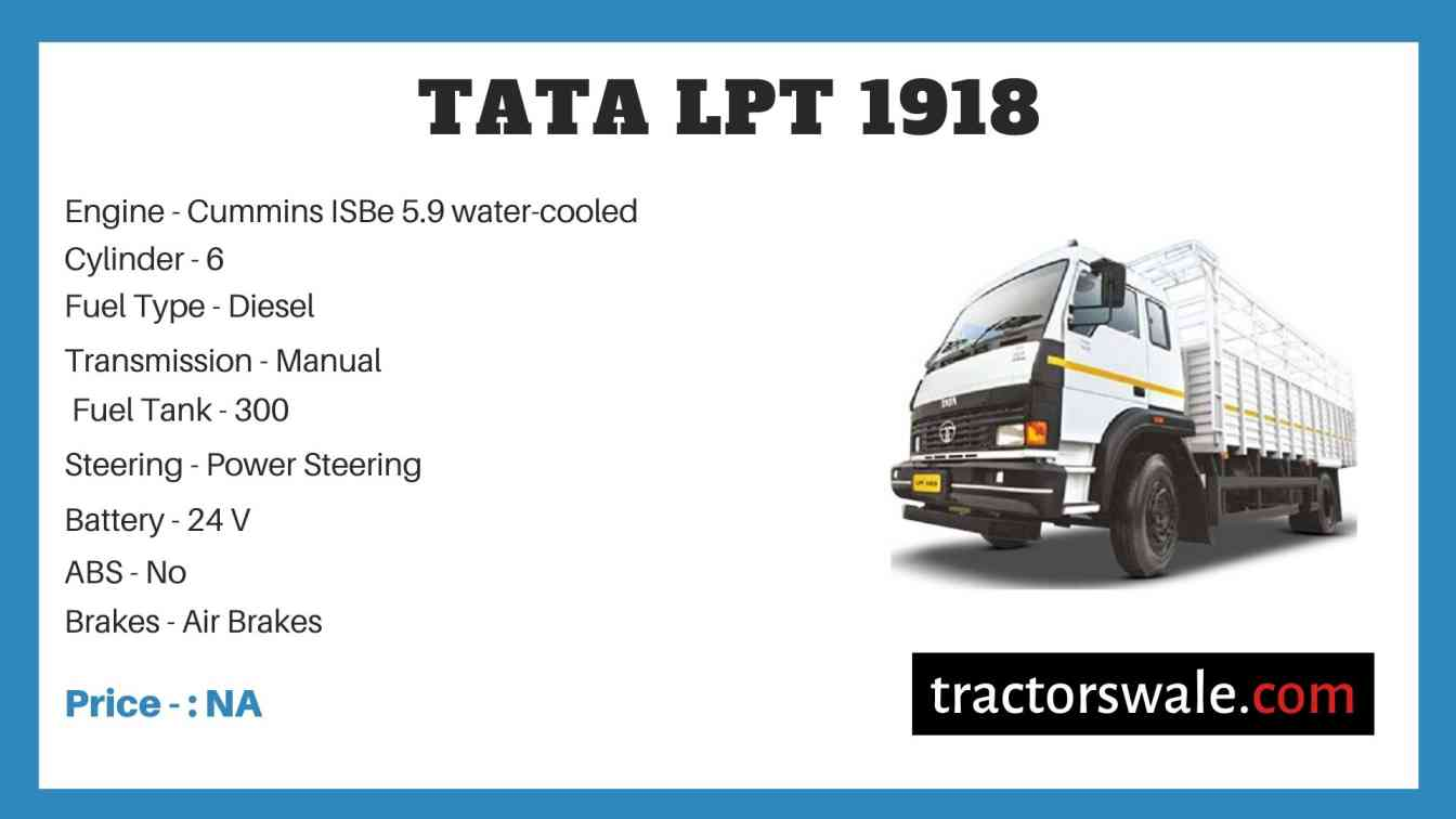 Tata LPT 1918 Price