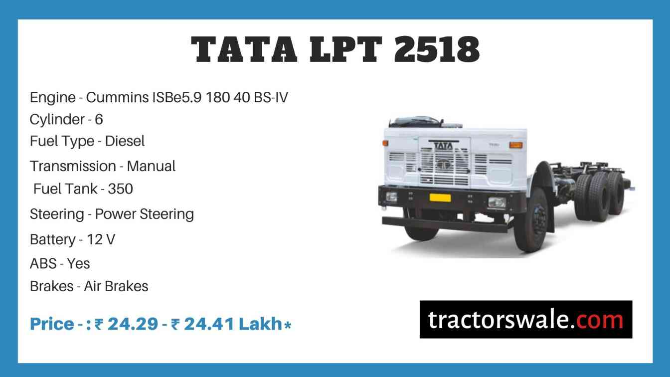 Tata LPT 2518 Price