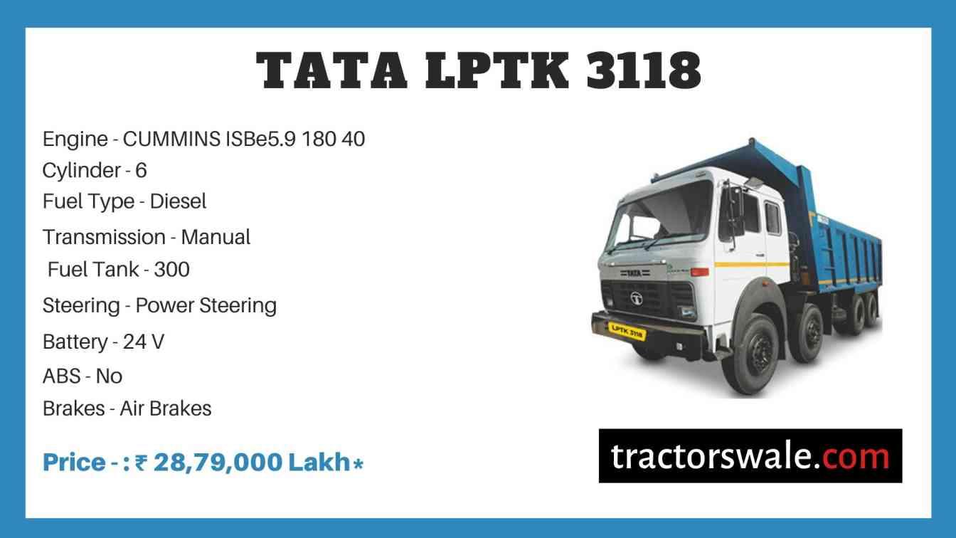 Tata LPTK 3118 Price