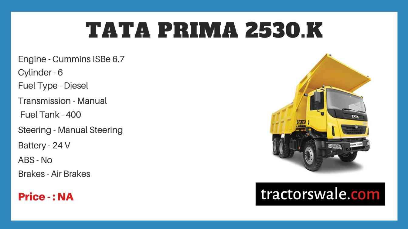 Tata PRIMA 2530.K Price