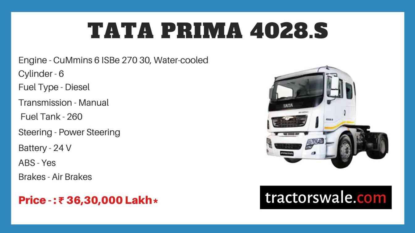 Tata Prima 4028.S Price
