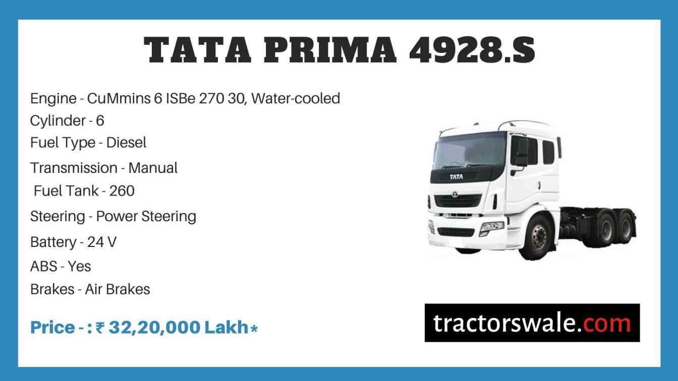 Tata Prima 4928.S Price