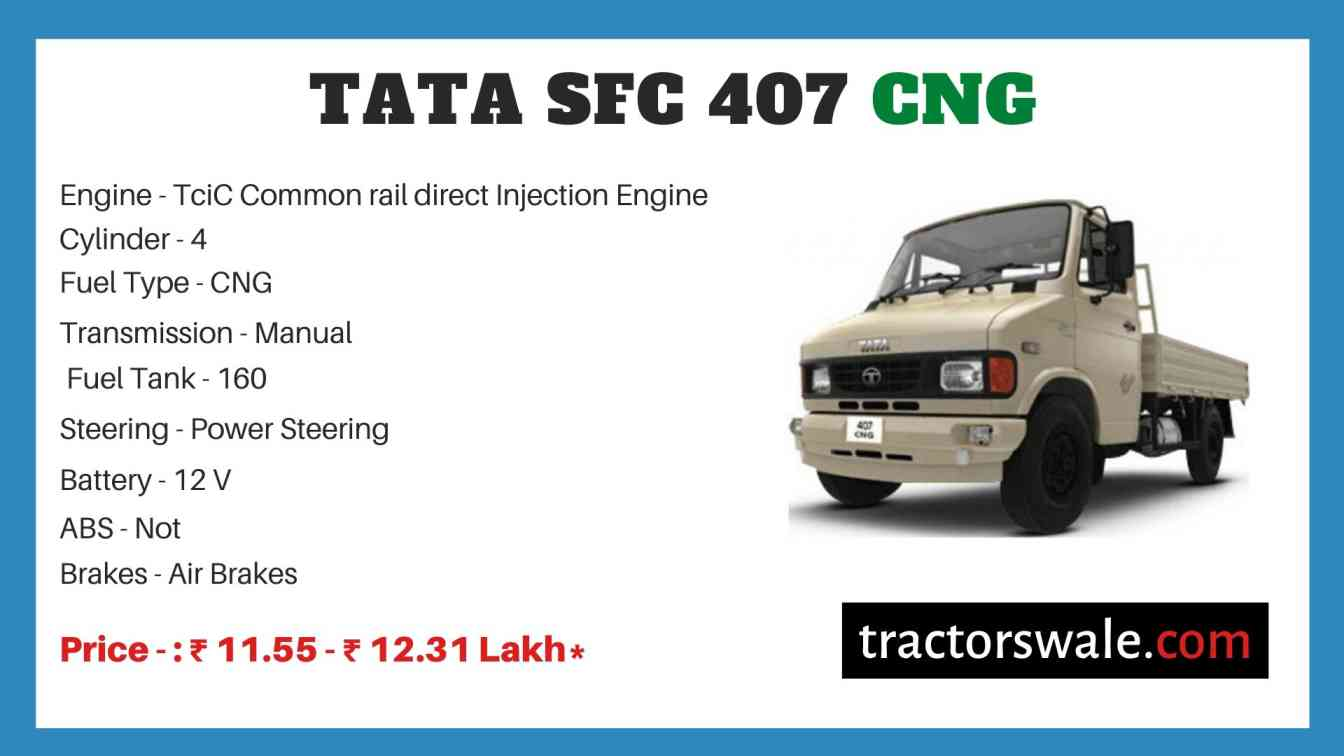 Tata SFC 407 CNG Price