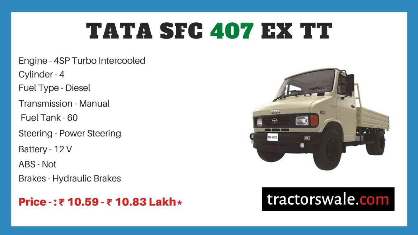 Tata SFC 407 EX TT Price