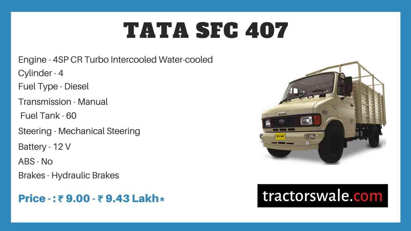 Tata SFC 407 Price
