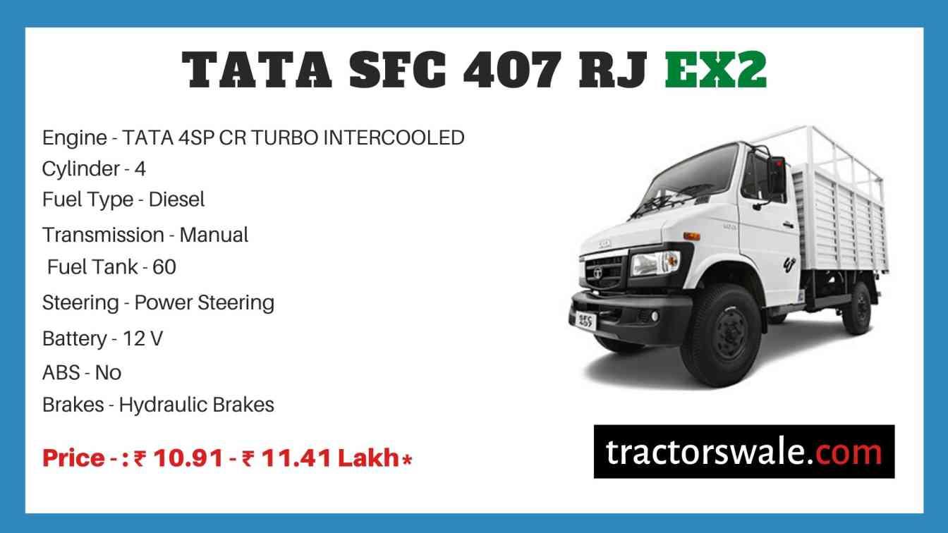 Tata SFC 407 RJ EX2 Price