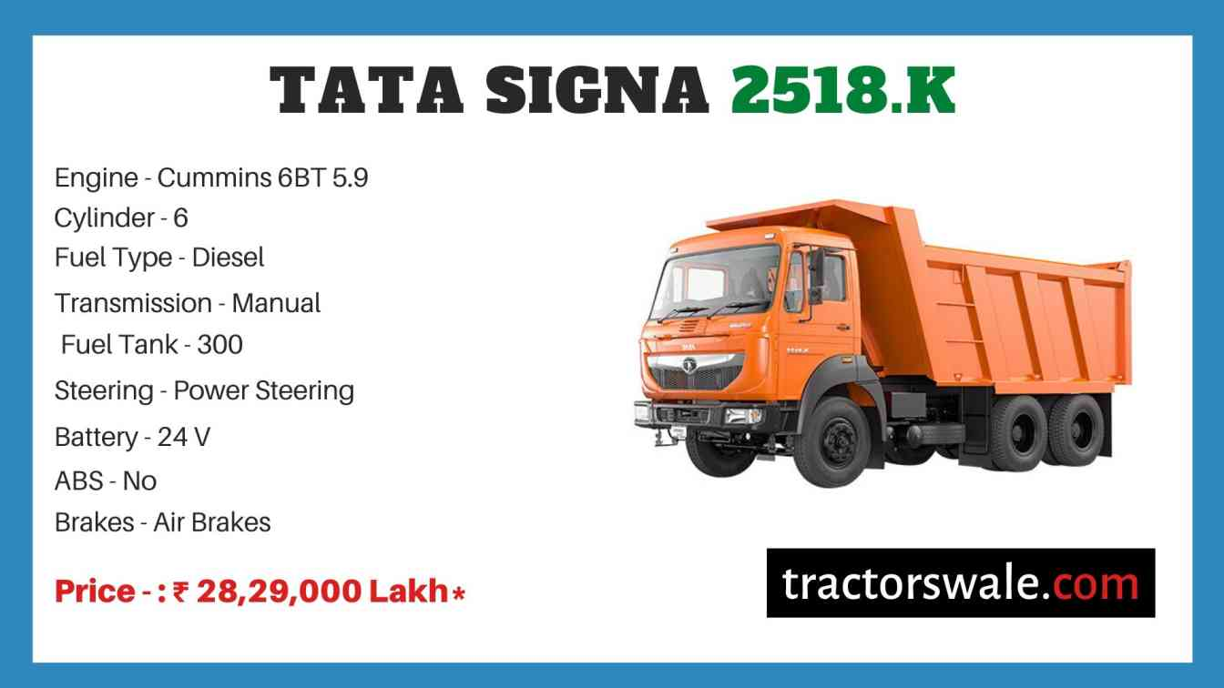 Tata Signa 2518.K Price