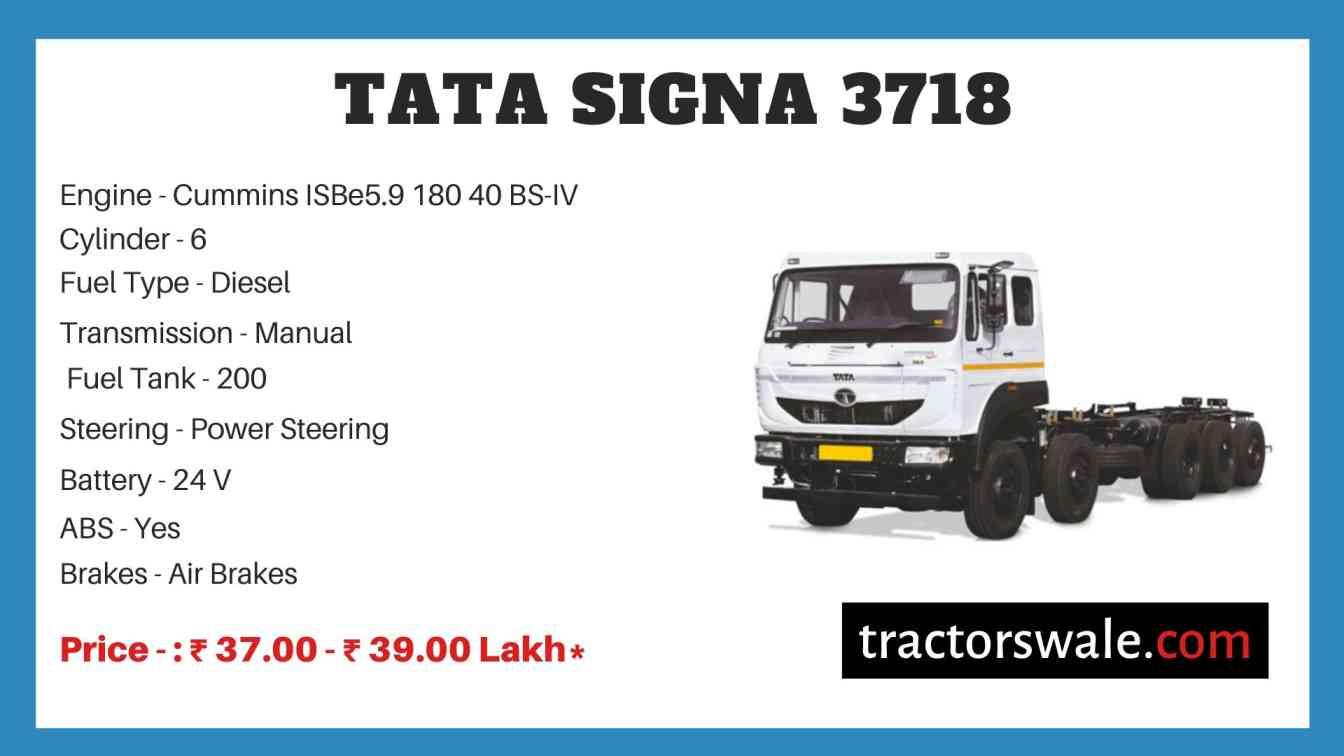 Tata Signa 3718 Price