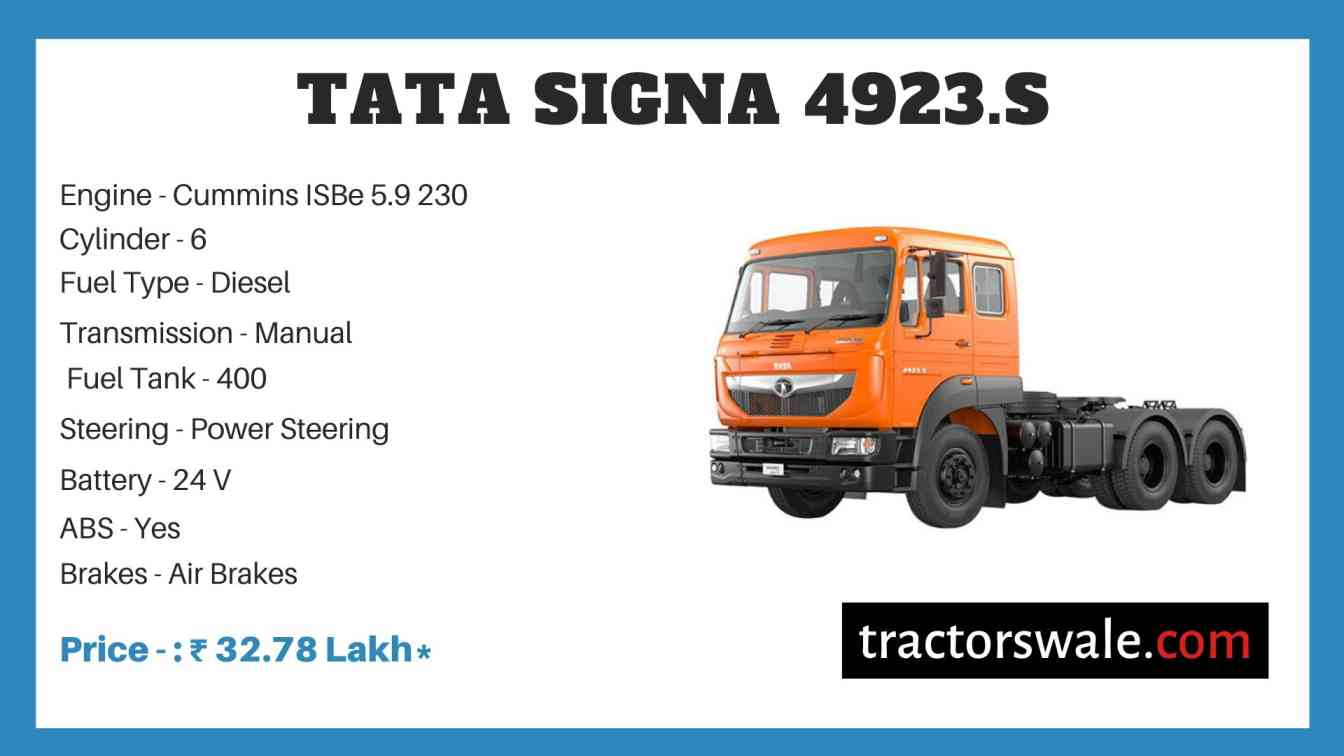 Tata Signa 4923.S Price