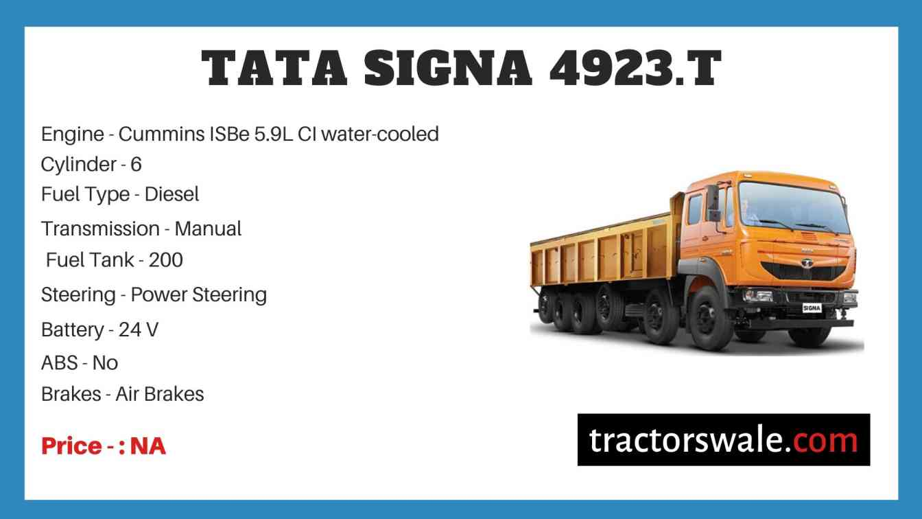 Tata Signa 4923.T Price