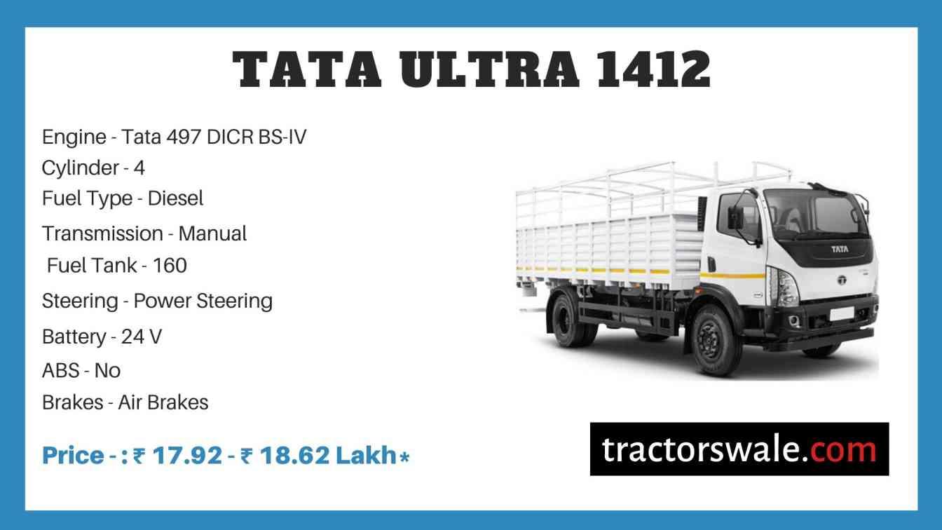 Tata ULTRA 1412 Price