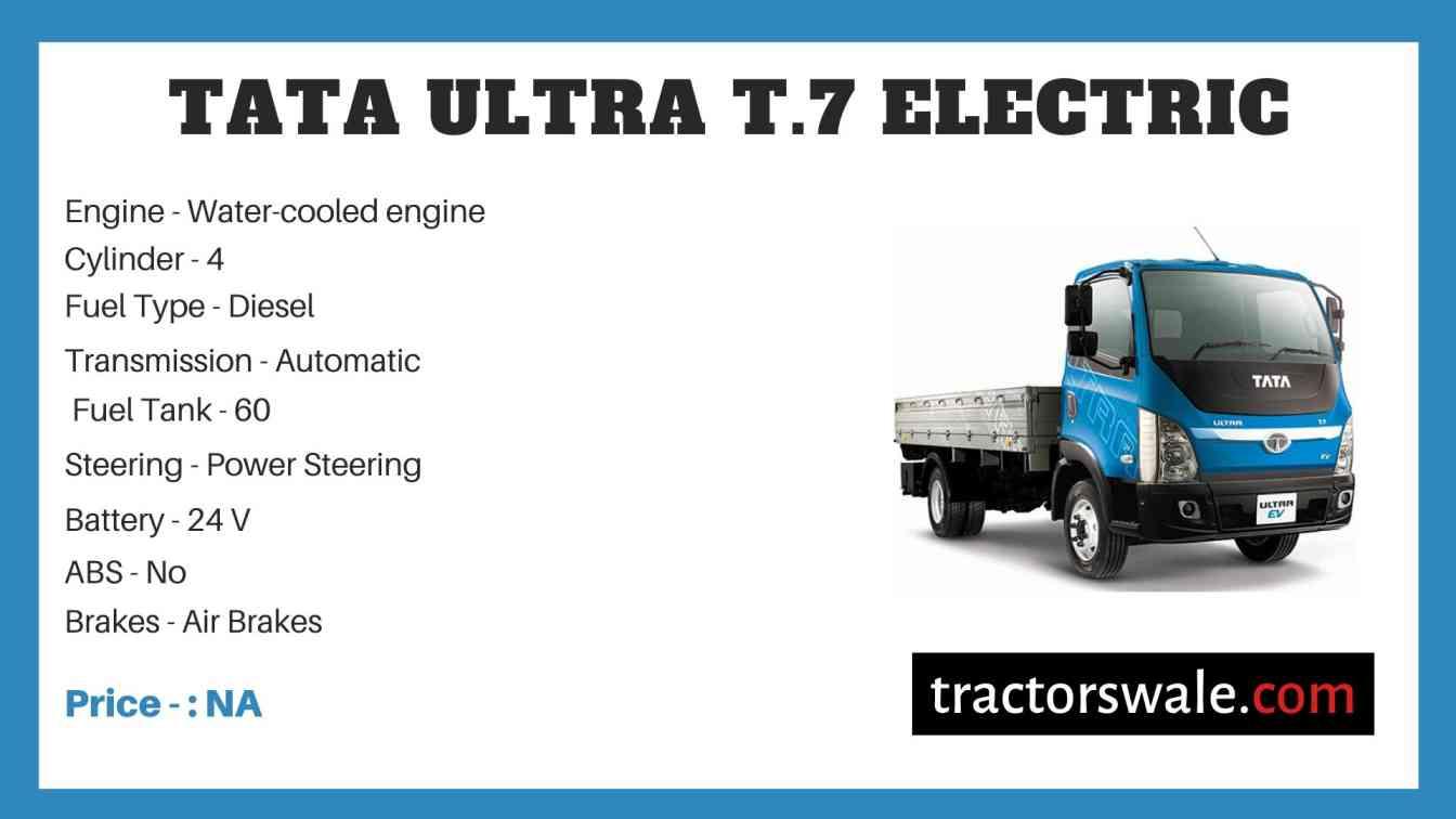 Tata ULTRA T.7 Electric Price