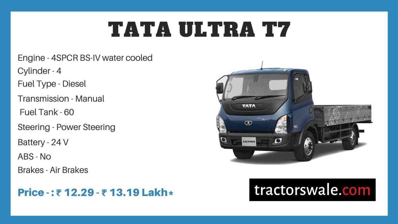 Tata ULTRA T7 Price