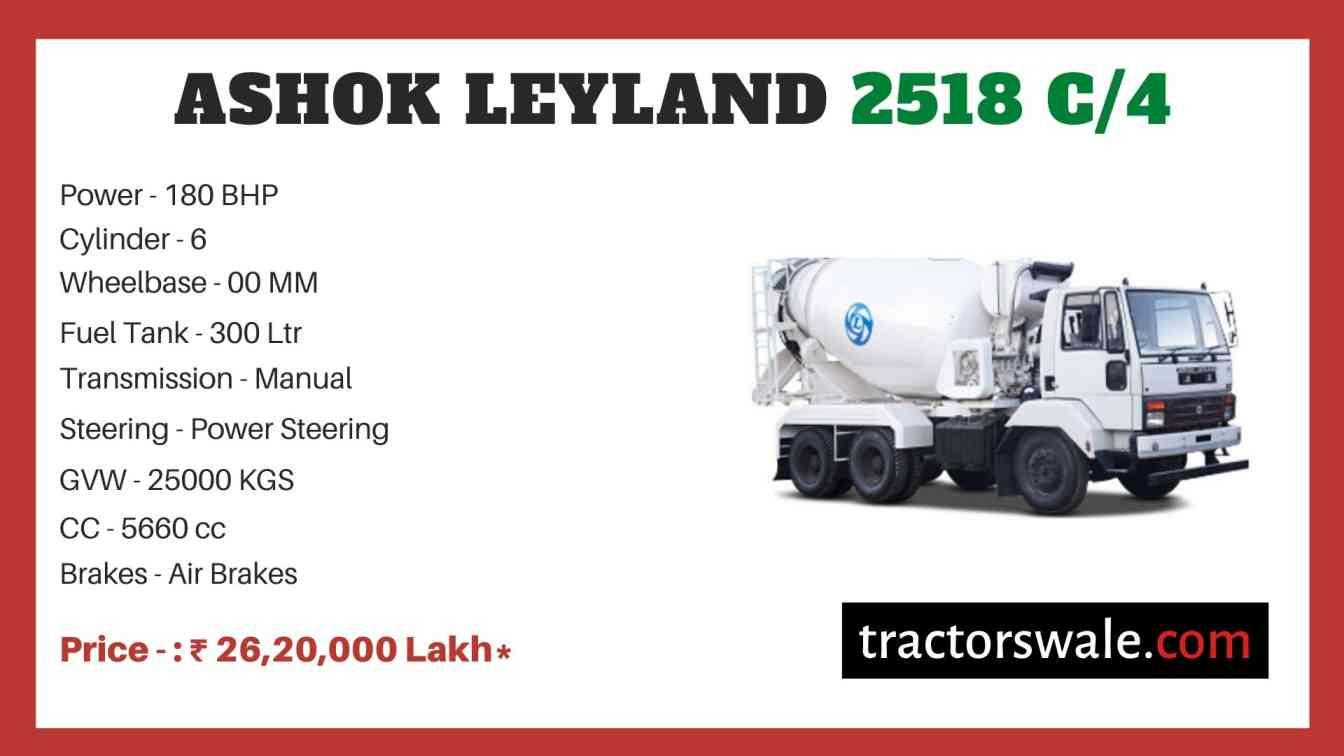 Ashok Leyland 2518 C4 price