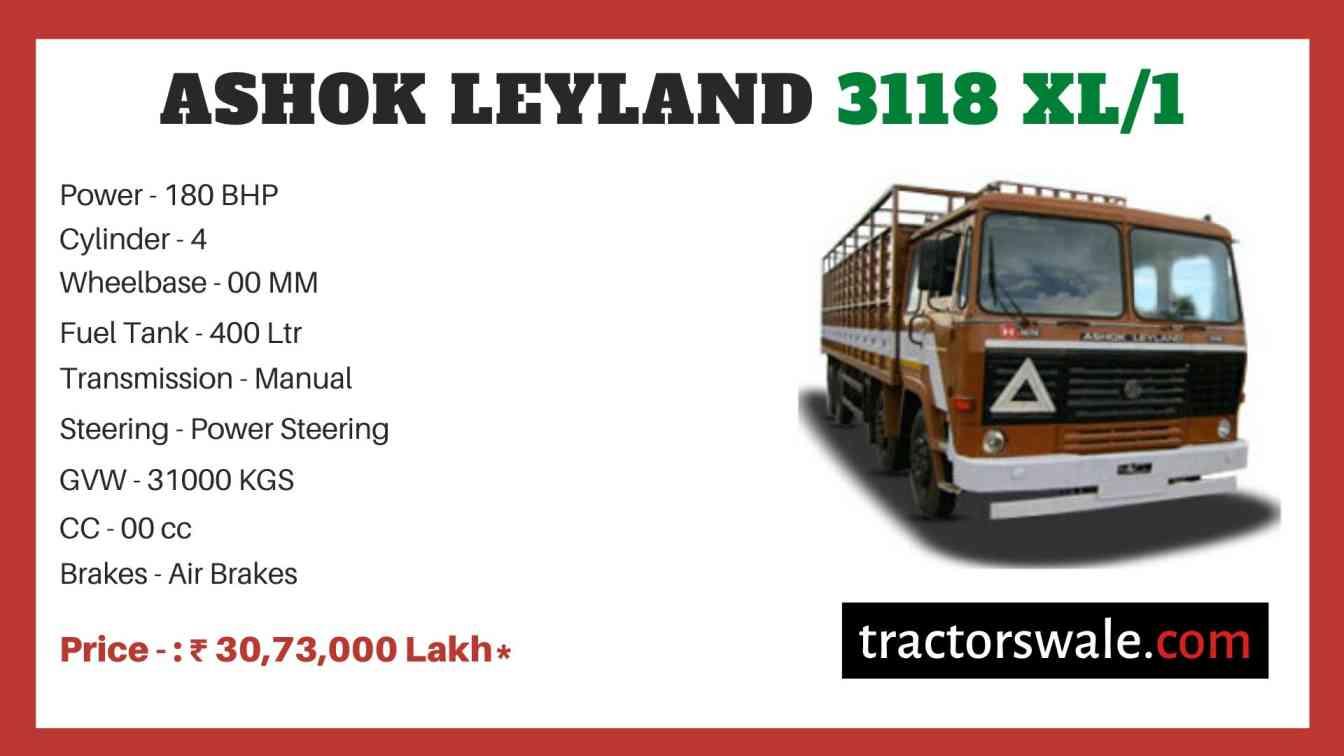 Ashok Leyland 3118 XL1 price