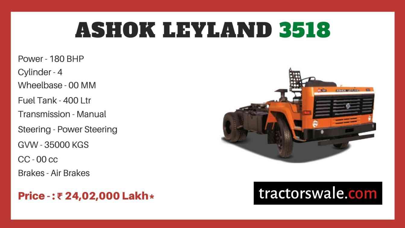 Ashok Leyland 3518 price