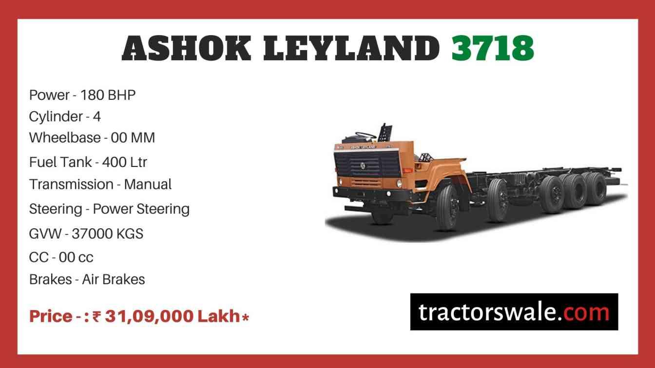 Ashok Leyland 3718 price
