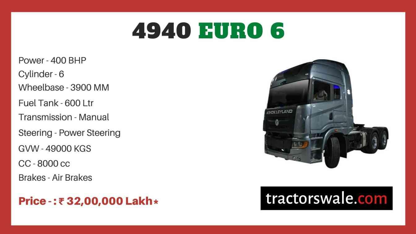 Ashok Leyland 4940 Euro 6 price