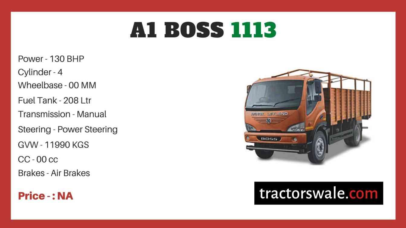 Ashok Leyland A1 BOSS 1113 price