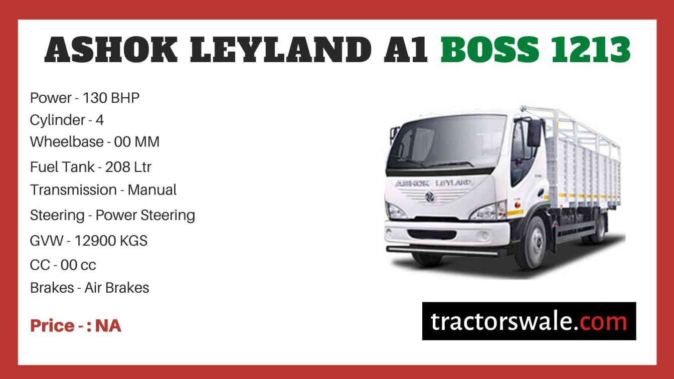 Ashok Leyland A1 BOSS 1213 price