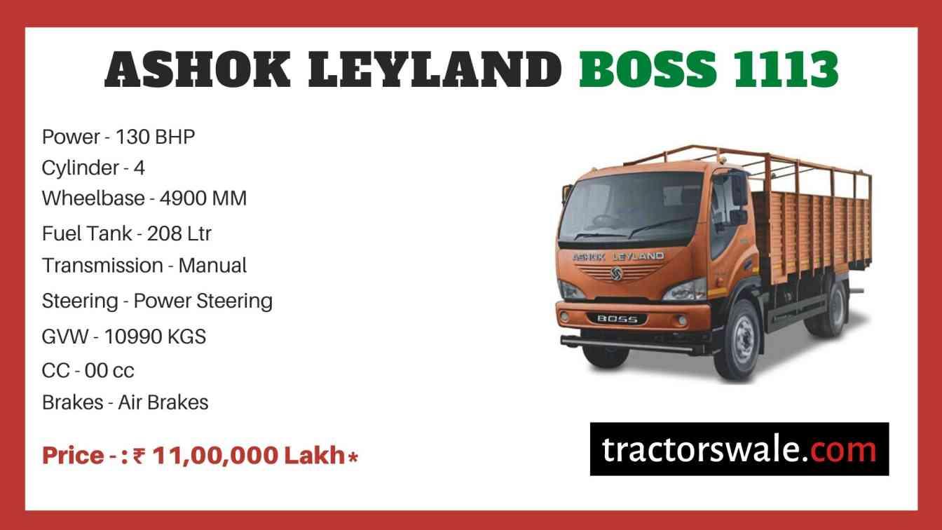 Ashok Leyland Boss 1113 price