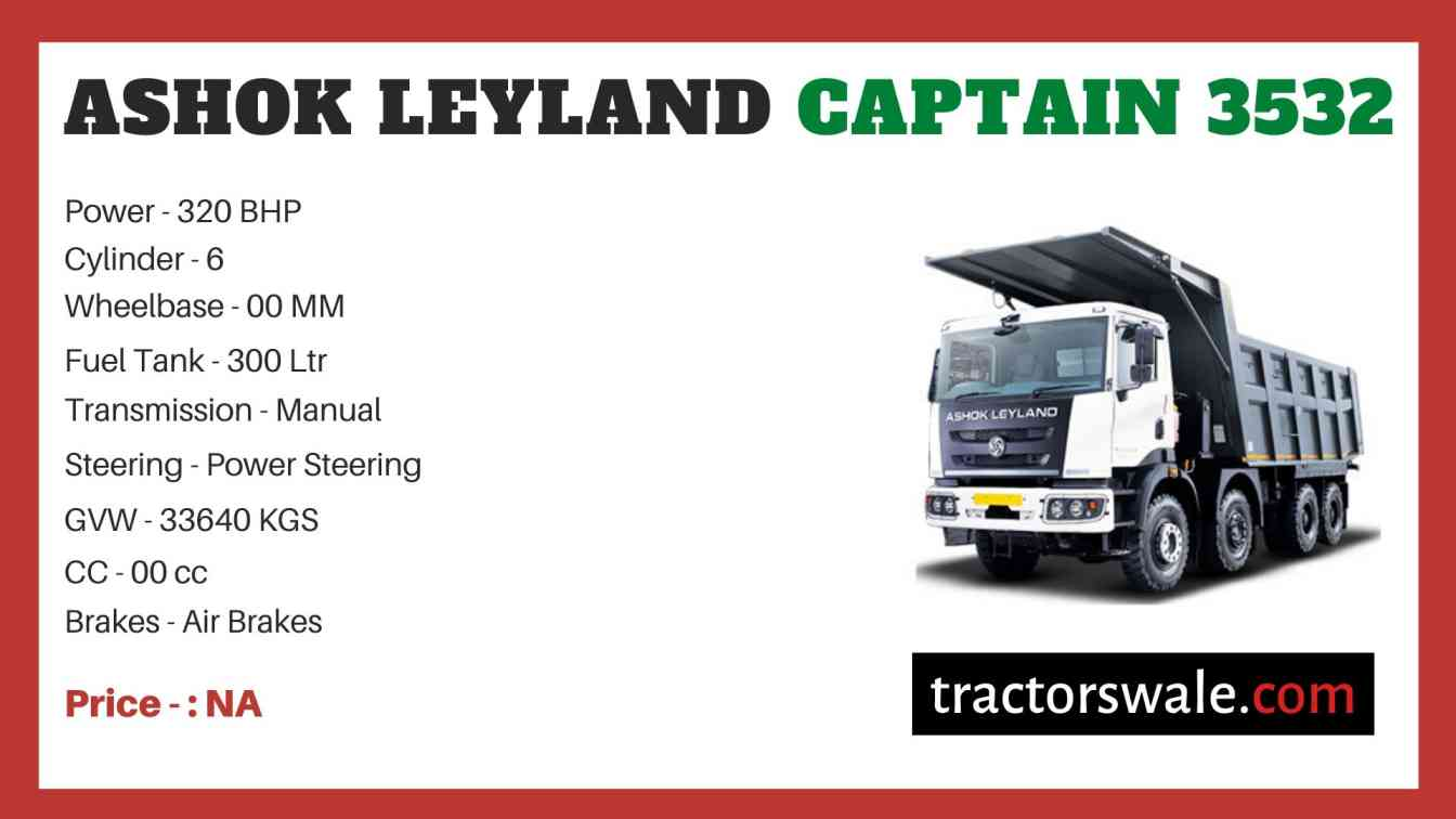 Ashok Leyland CAPTAIN 3532 price