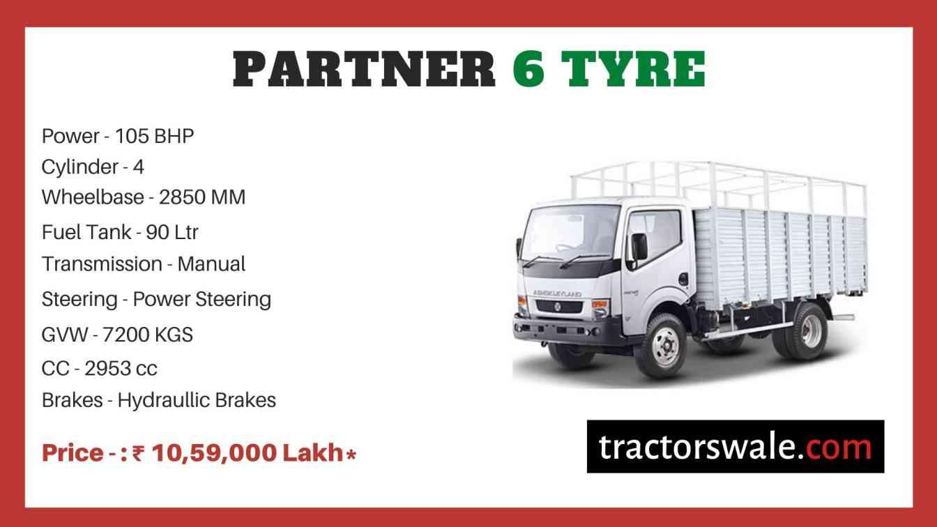 Ashok Leyland PARTNER 6 TYRE price