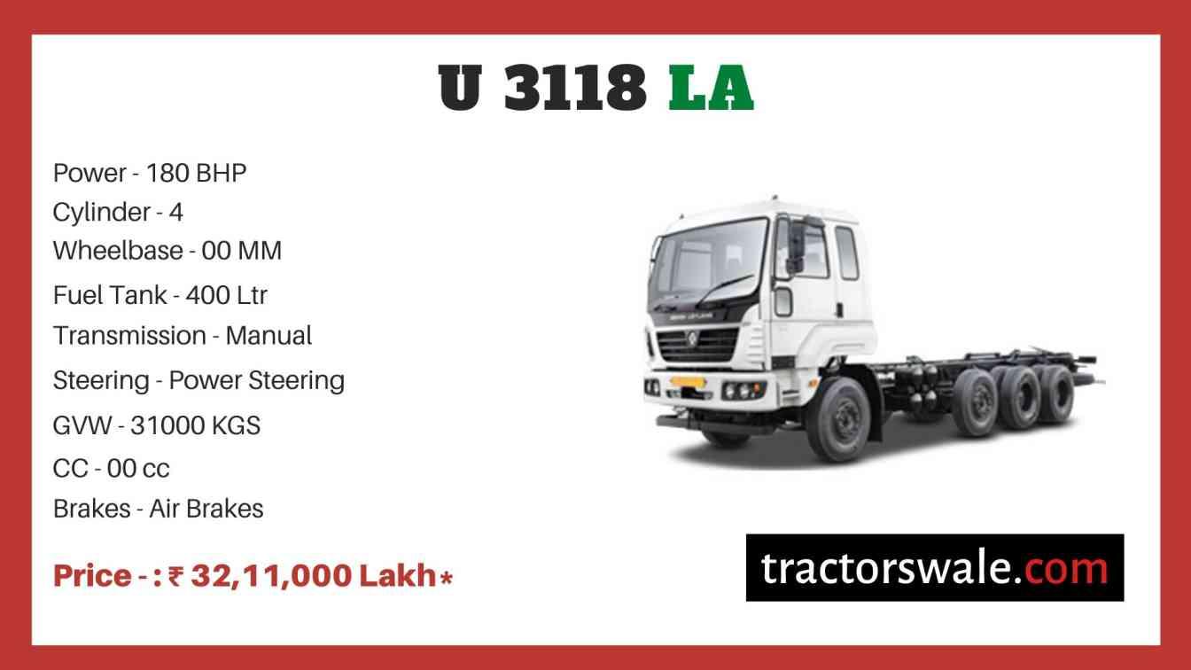 Ashok Leyland U 3118 LA price